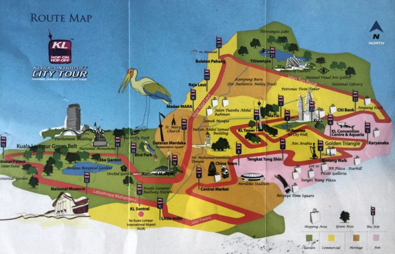 Kuala Lumpur Hop-On-Hop-Off Route Map